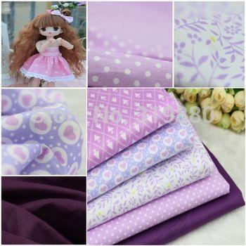 5 adet mor 100% pamuklu kumaş diy dikiş patchwork çocuk yatak çanta Tilda bebek aşk bebek bezi tekstil kumaş 40*50cm