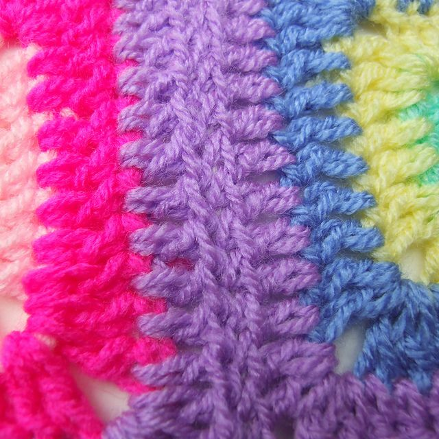 Crochet Invisible Join : Invisible crochet seam.