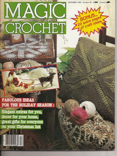 Crochet Home Magazine : Magic Crochet Magazine No 39 December 1985 Home Decor Crochet Patterns ...