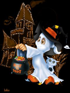 TRICK-OR-TREATING GHOST