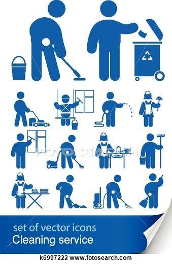 Cleaning Service Vector Icon Set