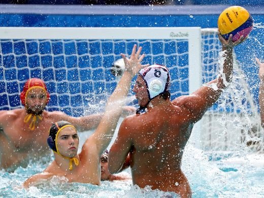 Luca Cupido of the United States looks to shootl against