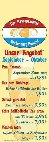 Käsespezialist Hop Kleve - Abreiß-Flyer für eine Flyerwand