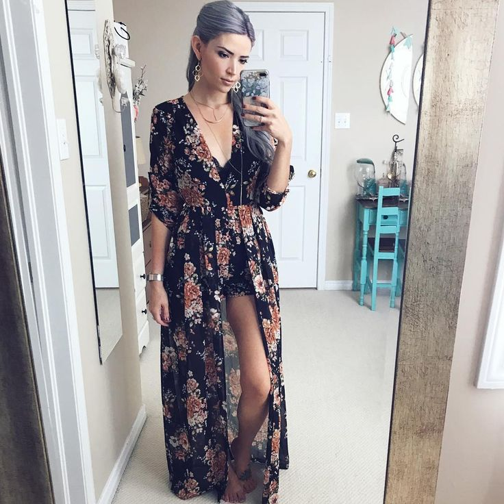"""1,582 Likes, 22 Comments - Sarah Nicole (@thebirdspapaya) on Instagram: """"I've had this romper in my closet all summer but with long sleeves AND shorts I never found the…"""""""