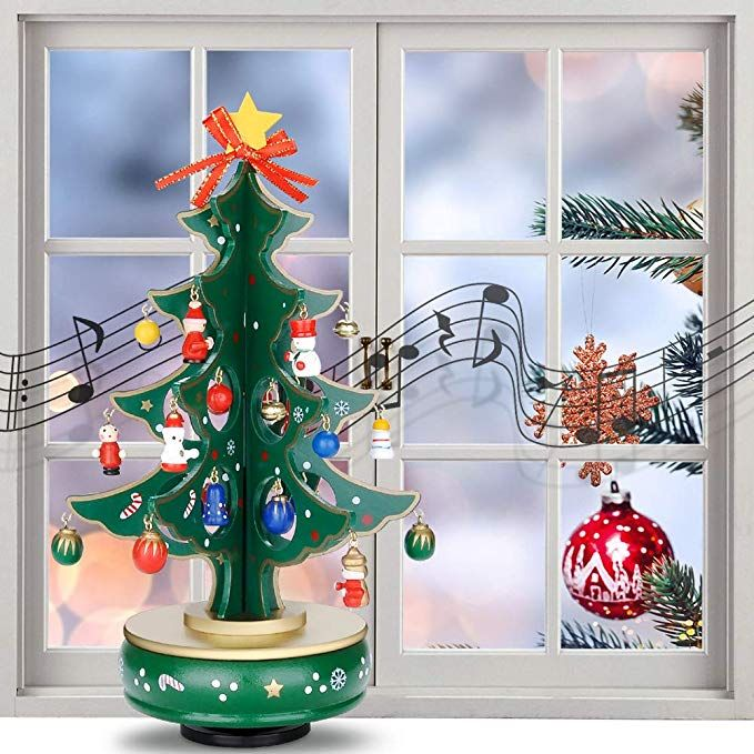 Amazon Com Weksi Christmas Music Box Christmas Decorations Musical Rotate Boxes Kit Di Christmas Music Box Christmas Decorations Classic Christmas Decorations
