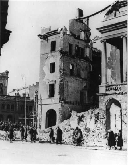 Destroyed Buildings in Warsaw, Poland, October 4, 1939