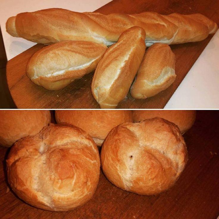 Baguette, filoncini e francesine. #pane #bread #impasto #dough #baguette #francesina #panino #loaves