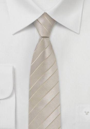 Parsley Schmale Krawatte in Champagnerton für das Hochzeitsfest