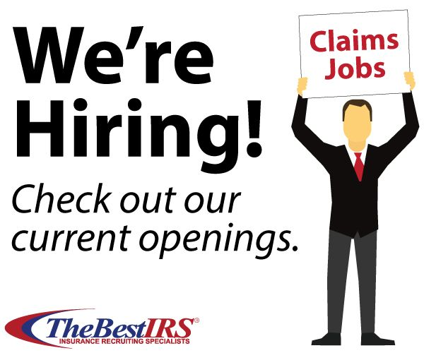 We have new openings for Claims Adjusters! Check them out and apply ASAP: https://thebestirs.secure.force.com/careeropportunities