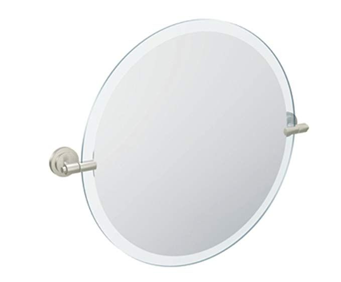 Moen Dn0792bn Iso 22 Inch X 22 Inch Frameless Pivoting Bathroom Tilting Mirror Brushed Nickel Review Mirror