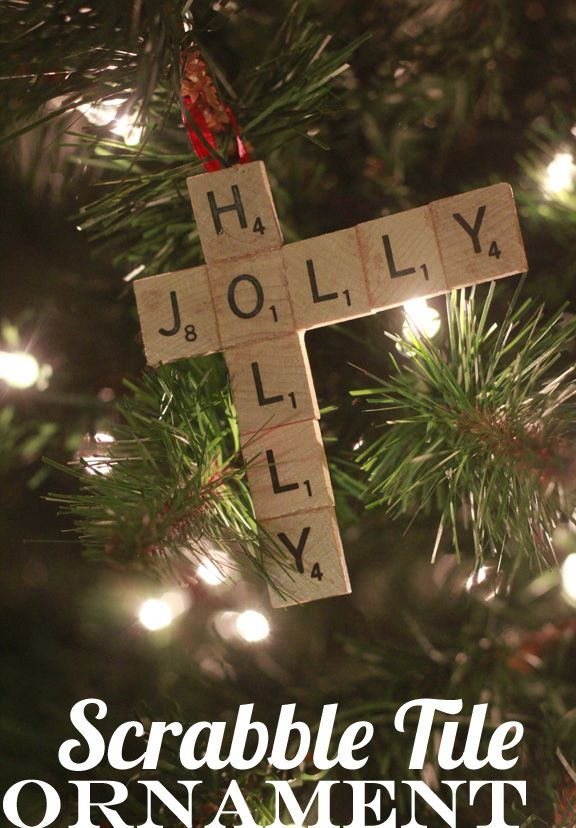Scrabble tile ornaments or gift tags (with names) - tons of variations when I googled it.  Cute!