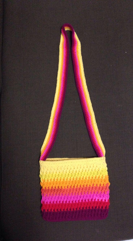 Sling bag crochet - Chroma Multi Coloured Crochet Sling Bag