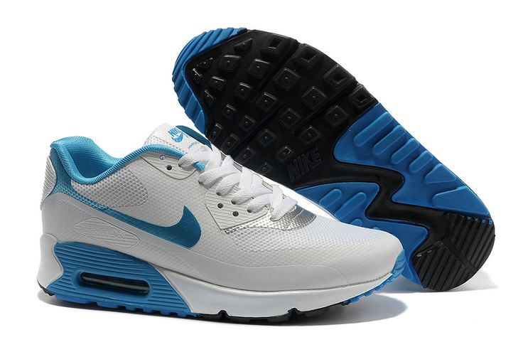 Authentic Nike Shoes For Sale Outlet Nike Air Max 90 Hyperfuse Prm Womens  Best White Blue Black -