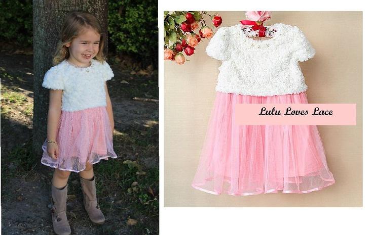 Fur and Tutu Little Girls 'Lilly' Dress  $25  https://www.facebook.com/LuluLovesLace