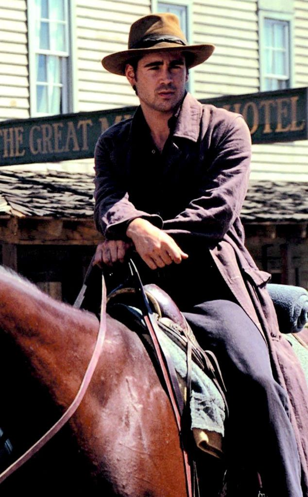 Colin Farrell makes one hot cowboy, as Jesse James in American Outlaws. First movie I saw with him and is still my favorite.