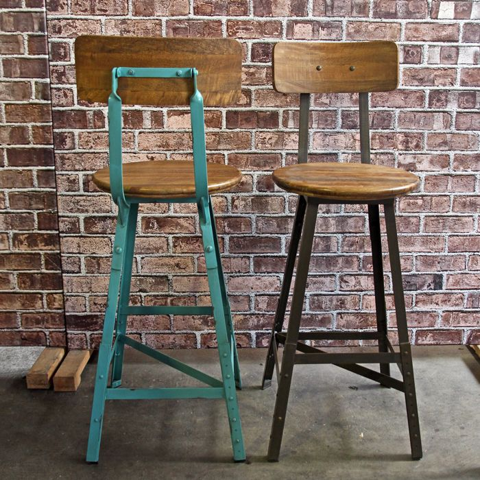 Industrial Bar Stools. Available at Vast Interior.