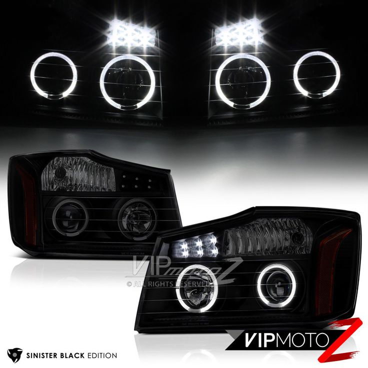 For 2004-2015 Nissan Titan [SINISTER BLACK] Halo LED Projector Headlights Lamps | eBay Motors, Parts & Accessories, Car & Truck Parts | eBay!