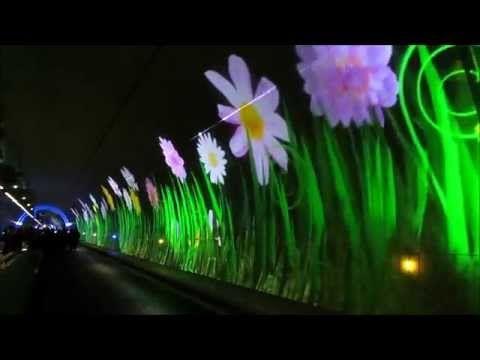 Tunnel de la Croix Rousse - Lyon - Fête des Lumières - 1 - YouTube