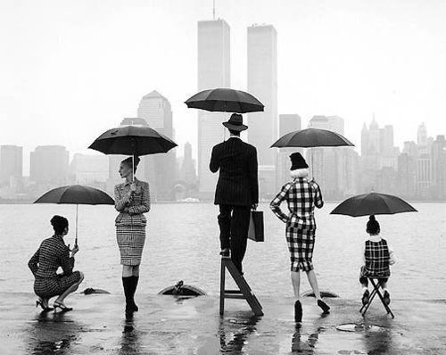 Skyline, Hudson River, New York, 1995: New York Cities, Rainy Day, Rodney Smith, Black White, Twin Towers, Families Photos, Families Pics, Families Portraits, Photography