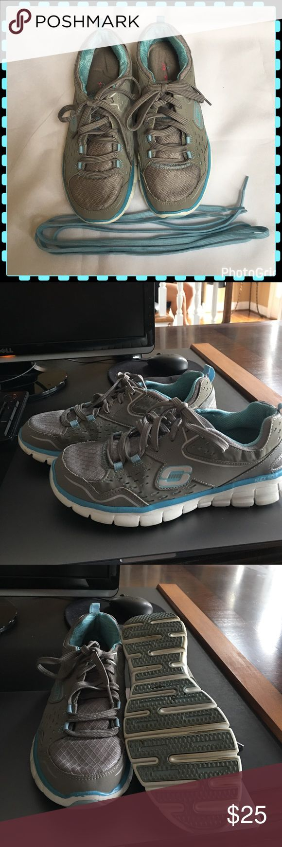 Skechers Flex Sole Sneakers Skechers Flex Sole Sneakers. Comes With Two Pairs of laces. Memory Foam Insoles. Gently Used. Skechers Shoes Slippers