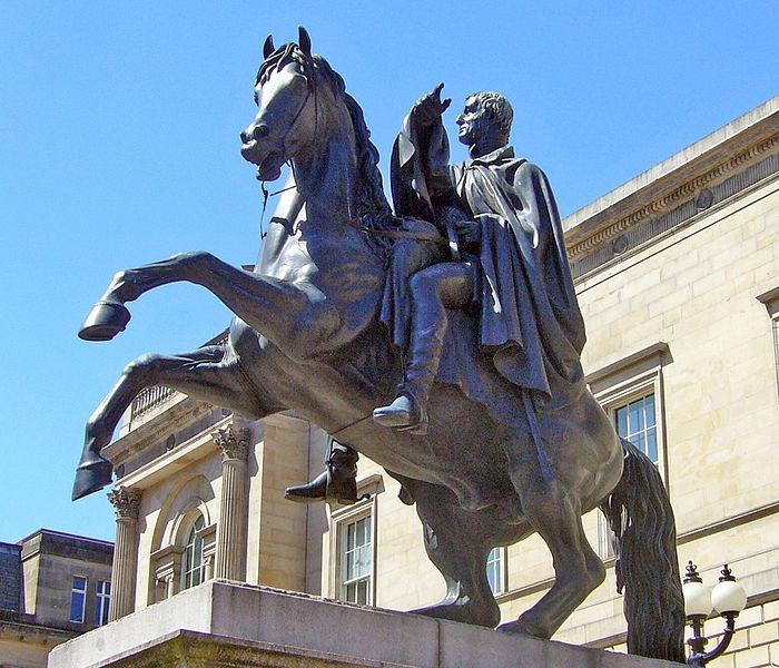 Steell's bronze Iron Duke, Edinburgh