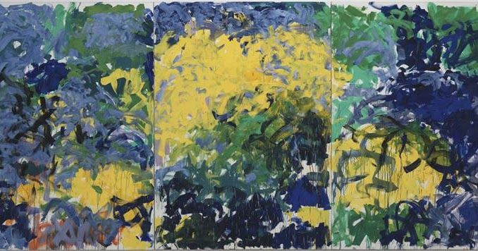 La Grande Vallee Xiv Painted In 1983 Comes Closer Than Any Other Painting By Joan Mitchell To Showing An Affinity With Claud In 2020 Joan Mitchell Abstract Artwork