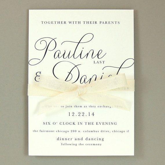 Pauline Suite  invito a nozze elegante moderno  di JPstationery