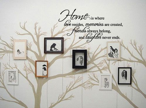 HOME is where love resides  Vinyl Wall Quote Decal by 7decals, $18.99