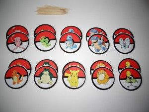 Prikkers Pokemon 20 stuks DIY - Traktaties, Kindertraktaties, Traktatie Inspiratie   Ik ga trakteren