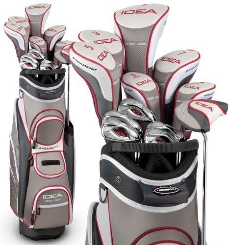 Adams A12OS Ladies Premium Complete Set - 12 Clubs and Bag - Sterling by Adams. Save 39 Off!. $612.95. The new a12 OS Executive set features the award winning Idea a12 OS Hyrbid Irons - Golf Digest Hot List Gold Medal for Super Game Improvement and recognized as the Category Leader in Innovation. Easiest-to-hit set ever - the ideal choice for a new or occasional women's golfer. Features. Idea A12 OS Hybrid Iron. Designed for High Launching Ball Flight. Perfect for the Beginner.