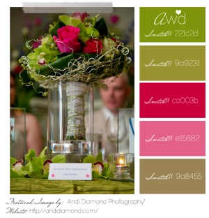 Love the color combo, lots of green with pop of pinks.
