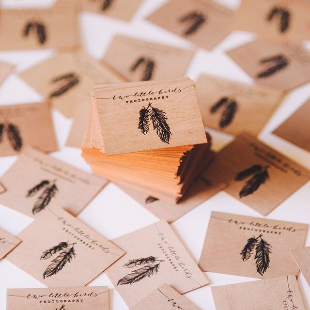 #repost Here's some edge painted business cards we did for @twolittlebirdsphotographs