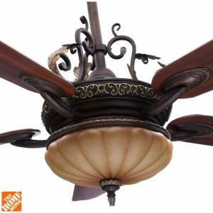 H&ton Bay Chateau De Ville 52 in. Indoor Walnut Ceiling Fan with Light Kit and Remote Control  sc 1 st  Pinterest & 17 best Tuscan Chandeliers images on Pinterest | Architecture ... azcodes.com