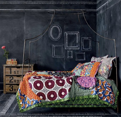 Chalkboard Bedroom Walls: From The July 2010 Anthropologie Catalog Love The  Quilt Caitlin?