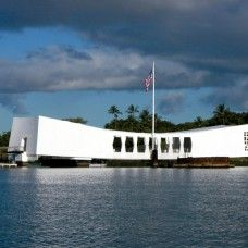 """DAY TWO: USS Arizona Memorial- This solemn USS Arizona memorial honors the 1,177 crewmen who perished in the 1941 attack on Pearl Harbor. Hear the recollections of dozens of survivors during a 90-minute audio tour. The USS Arizona is the most visited attraction on Oahu and should be a """"must-see"""" on your itinerary."""