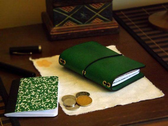 Leather Dollar Store size - Dollardori - Midori Travelers Notebook - Molskine - Passport - Fauxdori - composition - diary - planner