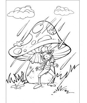 cartoon mushrooms coloring pages - photo#25