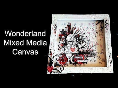 Wonderland mixed media canvas