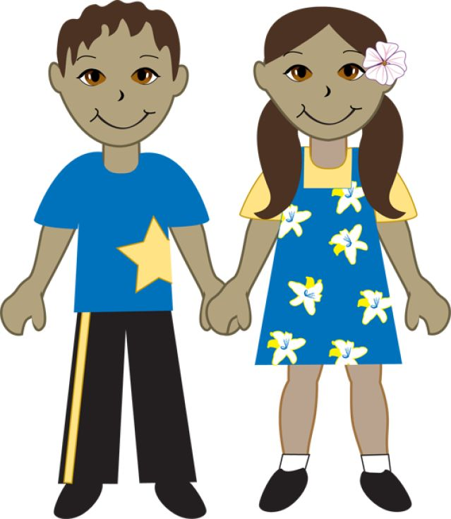 Kids Of Diverse Races: Hispanic Boy and Girl