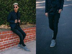 Tommy Lei - Lespecs Round Sunglasses, G Star Raw X Pharrell Bomber Jacket, G Star Raw Moto Style Denim, Clarks Desert Suede Boots - OCEANS
