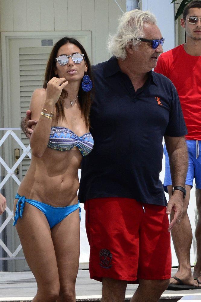 Elisabetta Gregoraci and Flavio Briatore