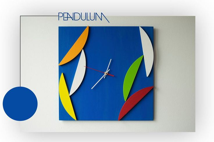 Deco Pendulum - Wood Wall Clock - Geometric Mosaic - Original Design  - 59$ Shop here: http://bit.ly/pendulum-etsy