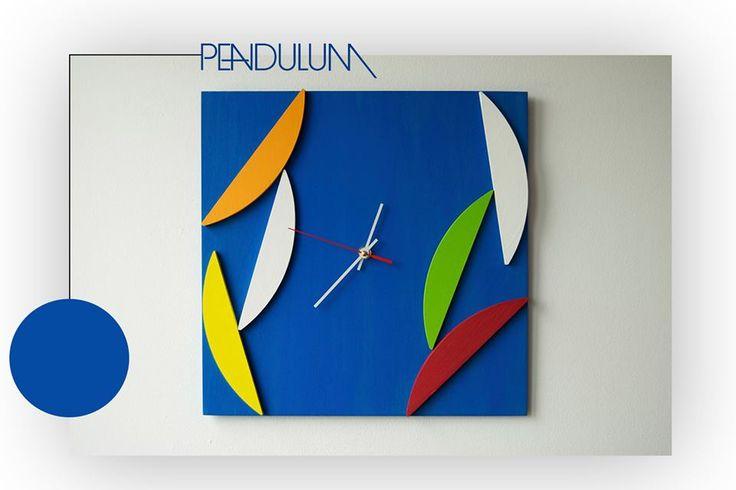 Deco Pendulum - Wood Wall Clock - Geometric Mosaic - Original Design  - 59$ Shop here: http://bit.ly/pendulum-etsy