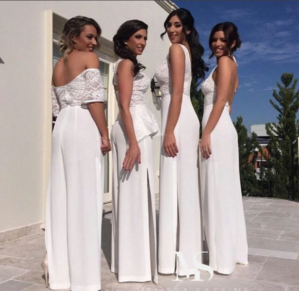 House of Ollichon loves...The Hottest Wedding Trend: 25 Stylish Bridesmaids Jumpsuits. #bridaljumpsuit #bridalwear #jumpsuit #bridesmaid