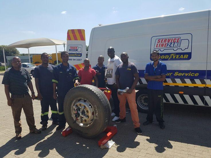 Goodyear Breakdown team getting training from Equipment Africa