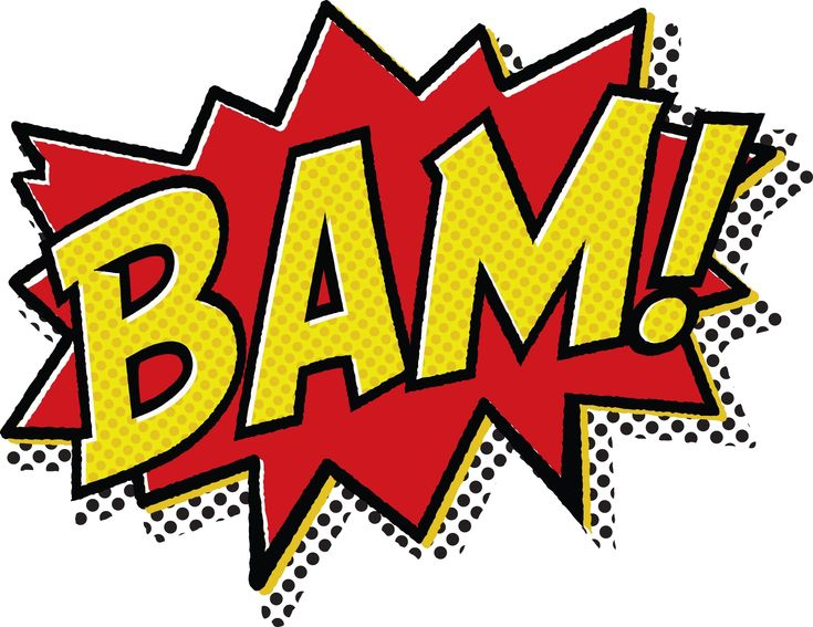 Comic Book Pop Art | Bam Bam Bam, comic book classic! T-Shirt Design By Jonathan Bybee ...