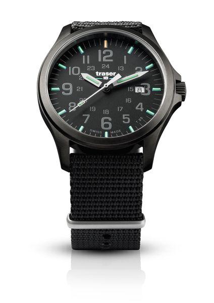 traser 107422 Men's Watch P67 Officern Pro Gunmetal Black Nato Strap Swiss Made