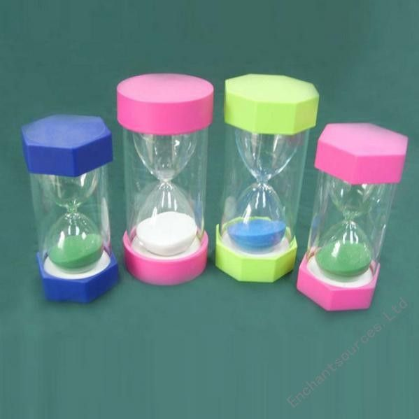 Tooth Topped hourglass sand timer 5 minute