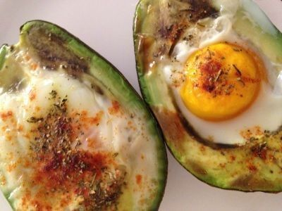 Baked Eggs in Avocados recipe