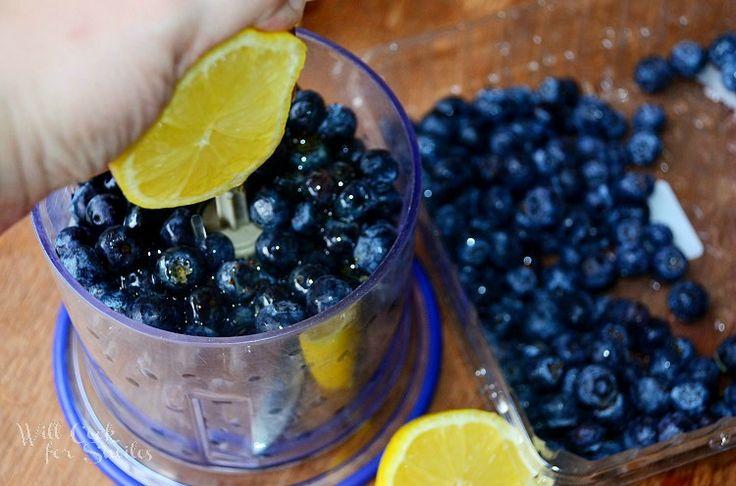 Blueberry-Lemon Popsicles - 24 oz pkg blueberries 1/2 c honey 1 lemon juiced
